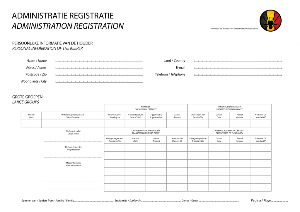 Administration registration for large groups